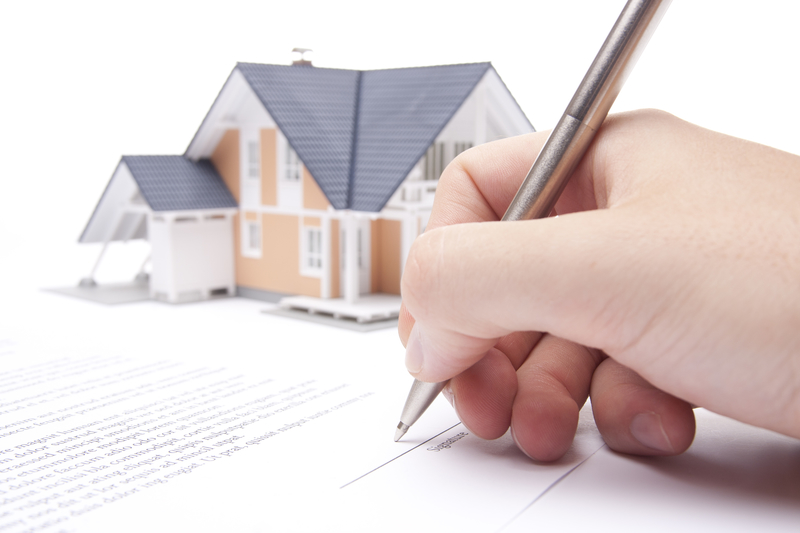 Signing Paperwork for a House